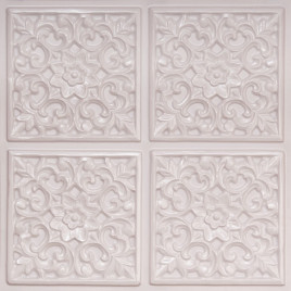 D109 PVC CEILING TILE 24X24 GLUE UP - WHITE PEARL
