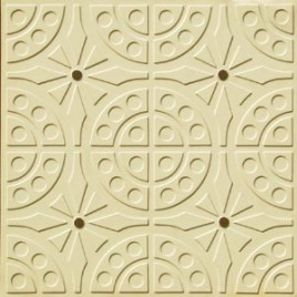 D110 PVC CEILING TILE 24X24 GLUE UP - CREAM - COFFEE