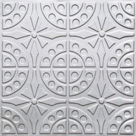 D110 PVC CEILING TILE 24X24 GLUE UP - SILVER