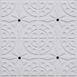 D110 PVC CEILING TILE 24X24 GLUE UP - WHITE MATTE - BLUE