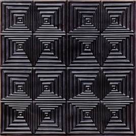 D115 PVC CEILING TILE 24X24 GLUE UP - BLACK