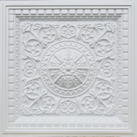D215 PVC CEILING TILE 24X24 DROP IN - WHITE PEARL