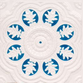 D240 PVC CEILING TILE 24X24 GLUE UP - WHITE PEARL & BLUE