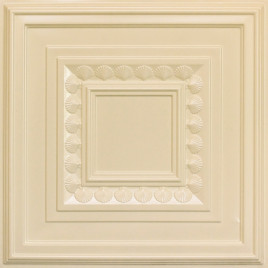 D249 PVC CEILING TILE 24X24 GLUE UP / DROP IN - CREAM PEARL