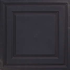 D232 PVC CEILING TILE 24X24 GLUE UP / DROP IN - BLACK