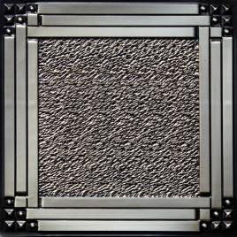 D209 PVC CEILING TILE 24X24 GLUE UP / DROP IN - ANTIQUE SILVER