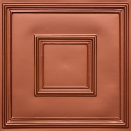 D208 PVC CEILING TILE 24X24 GLUE UP / DROP IN - COPPER