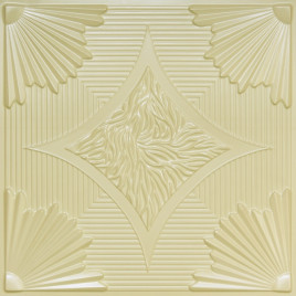 D201 PVC CEILING TILE 24X24 GLUE UP / DROP IN - CREAM PEARL