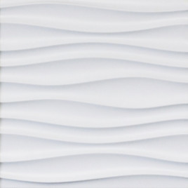 WAVY STYLING WALL PANEL #1 - WHITE - CONTEMPORARY - BOX OF 16 PCS