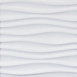 WAVY STYLING WALL PANEL #1 - WHITE - CONTEMPORARY - BOX OF 16 PCS