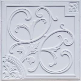 D204 PVC CEILING TILE 24X24 GLUE UP / DROP IN - WHITE MATTE
