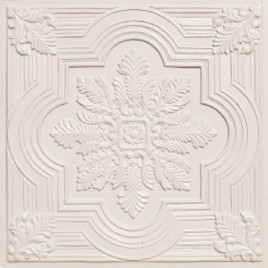D206 PVC CEILING TILE 24X24 GLUE UP / DROP IN - WHITE PEARL