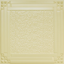D209 PVC CEILING TILE 24X24 GLUE UP / DROP IN - CREAM PEARL