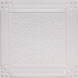 D209 PVC CEILING TILE 24X24 GLUE UP / DROP IN - WHITE PEARL