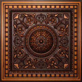D215 PVC CEILING TILE 24X24 DROP IN - ANTIQUE COPPER
