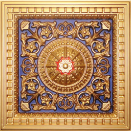 D215 PVC CEILING TILE 24X24 DROP IN - GOLD - NAVY BLUE - RED