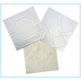 FULL STYROFOAM NON-PAINTED TILES SAMPLE PACK OF 3