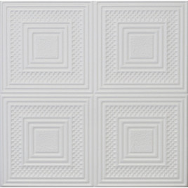 R11 STYROFOAM CEILING TILE 20X20 - PLAIN WHITE