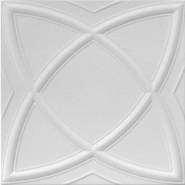 R13 STYROFOAM CEILING TILE 20X20 - SATURN - PLAIN WHITE