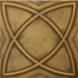 R13 STYROFOAM CEILING TILE 20X20 - SATURN - ANTIQUE BRASS