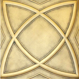 R13 STYROFOAM CEILING TILE 20X20 - SATURN - ANTIQUE GOLD