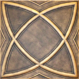 R13 STYROFOAM CEILING TILE 20X20 - SATURN - BLACK GOLD
