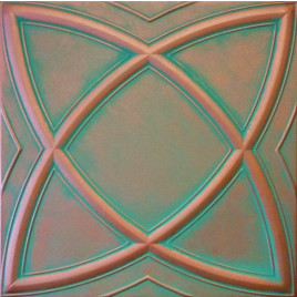 R13 STYROFOAM CEILING TILE 20X20 - SATURN - COPPER PATINA