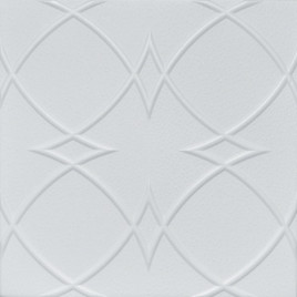 R23 STYROFOAM CEILING TILE 20X20 - PLAIN WHITE