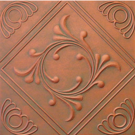 R2 STYROFOAM CEILING TILE 20X20 - ANET - COPPER PATINA