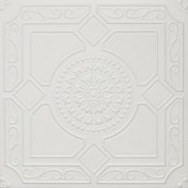R30A STYROFOAM CEILING TILE 20X20 - LIMA - PLAIN WHITE