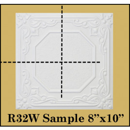 SMALL 8X10 SAMPLES OF STYROFOAM 20X20 CEILING TILES PACK OF 3