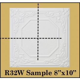 SMALL 8X10 SAMPLES OF STYROFOAM 20X20 CEILING TILES PACK OF 3