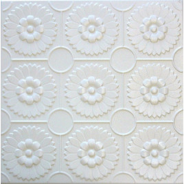 R36 STYROFOAM CEILING TILE 20X20 - PLAIN WHITE