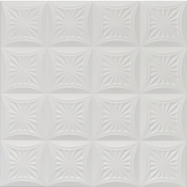 R40 STYROFOAM CEILING TILE 20X20 - PLAIN WHITE