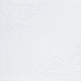 R6 STYROFOAM CEILING TILE 20X20 - PLAIN WHITE