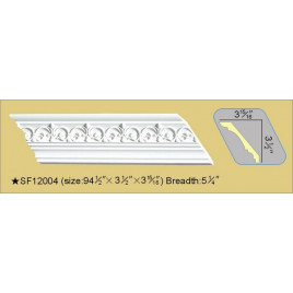 SF12004 PU POLYURETHANE CROWN MOLDING LOT OF 6