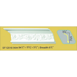 SF12016 PU POLYURETHANE CROWN MOLDING LOT OF 6