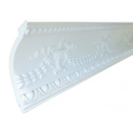 SF12104 PU POLYURETHANE CROWN MOLDING LOT OF 6 - ANTIQUE SILVER