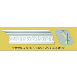 SF12303 PU POLYURETHANE CROWN MOLDING LOT OF 6