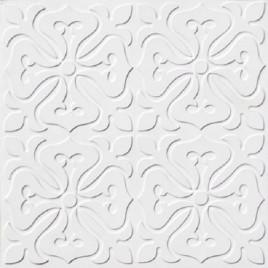D101 PVC CEILING TILE 24X24 GLUE UP - WHITE MATTE