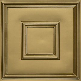 D208 PVC CEILING TILE 24X24 GLUE UP / DROP IN - BRASS