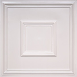 D208 PVC CEILING TILE 24X24 GLUE UP / DROP IN - WHITE PEARL