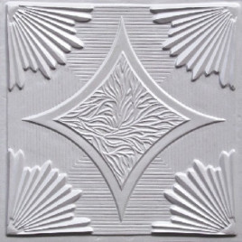 D201 PVC CEILING TILE 24X24 GLUE UP / DROP IN - WHITE PEARL