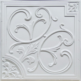 D204 PVC CEILING TILE 24X24 GLUE UP / DROP IN - WHITE PEARL