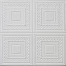 R11 STYROFOAM CEILING TILE 20X20 - PLAIN WHITE
