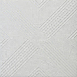 R34 STYROFOAM CEILING TILE 20X20 - PLAIN WHITE