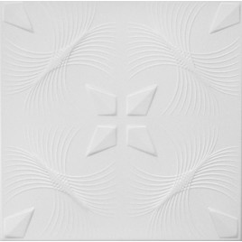 R41 STYROFOAM CEILING TILE 20X20 - PLAIN WHITE